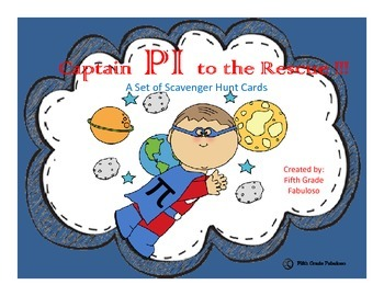 Captain PI to the Rescue!! Exploring Circumference Task Card Set