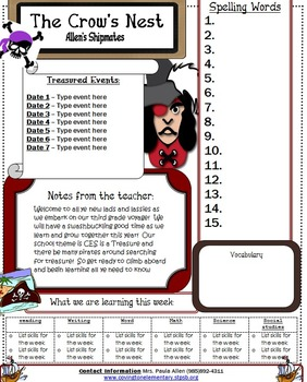 Captain Pirate Newsletter Template