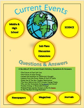 Current Events Science:10 Current Events Bundle: Articles, Questions & Answers