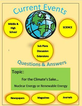 Current Events Science by Captain Planet - Nuclear Energy or Renewable Energy?