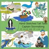Stormalong, Captain Stormalong Tall Tales Clip Art Bundle