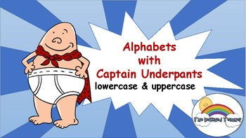 Captain Underpants Alphabet Bulletin Anchor Wall Poster Decoration
