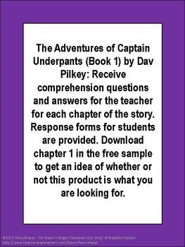 Captain Underpants Book 1 Literacy Unit