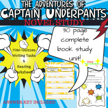 Captain Underpants Book Study