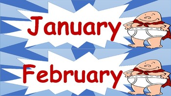 Captain Underpants Months of the Year Anchor Wall Poster Decoration