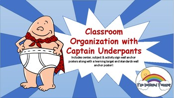 Captain Underpants Supply Subject Center Library Labels Anchor Wall Poster Decor