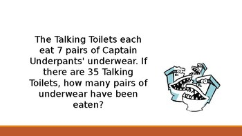 Captain Underpants Word Problems-Editable