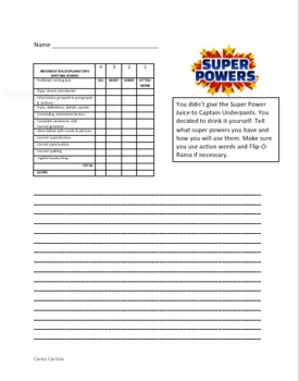 Captain Underpants & the Invasion of the Cafeteria Ladies #3 Question Sheets