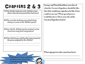 Captain Underpants & the Wrath of the Wicked Wedgie Woman Comprehension Packet