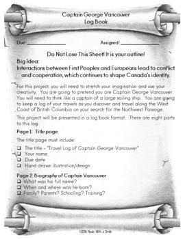 Captain Vancouver's Travel Log Project