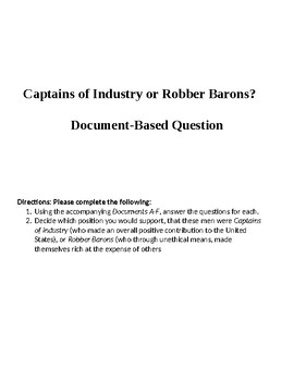 Captain of Industry or Robber Baron DBQ.