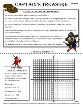 Captain's Treasure Coordinate Graphing Game