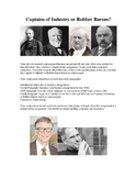 Captains of Industry / Robber Barons Writing Assignment