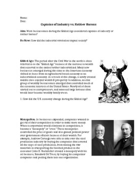 Captains of Industry vs. Robber Barons