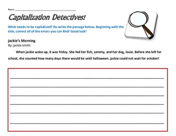 Captialization Assessment