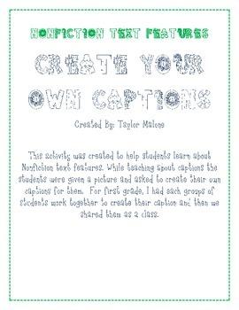 Caption Creations- Nonfiction Text Feature