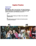 Caption Practice worksheet for Yearbook