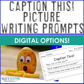 Caption This! Writing Prompts with Pictures | FUNNY Picture Writing Prompts