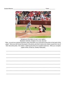 Caption Writing Activity - Sports