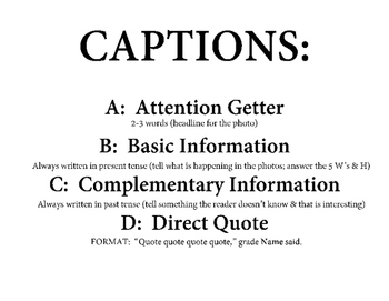 Caption Writing Poster