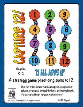 Sums to 12: It All Adds Up Math Strategy Game