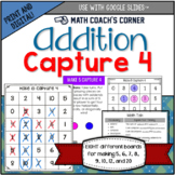 Capture 4 Addition Game Boards: Making 5, 6, 7, 8, 9, 10,