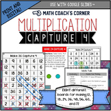 Capture 4 Multiplication Game Boards: Print and Digital Versions