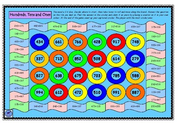 Capture Hundreds Tens and Ones - Addition Game