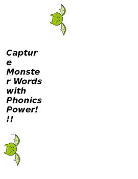 Capture Monster Words with Phonics Power Bookmark