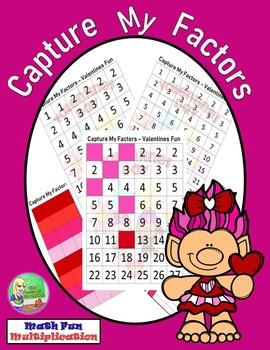 Capture My Factors  ❤  Valentines Math Center