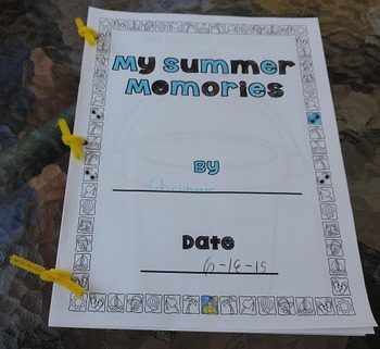 Capture Summer Memories~ Make a Memory Booklet