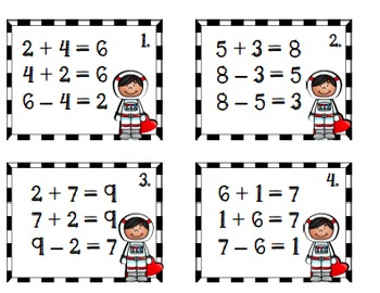 """Valentine """"Out of this World"""" Math Games"""