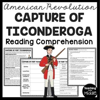 Capture of Fort Ticonderoga Reading Comprehension; American Revolution