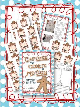 Capture the Cookie in Motion!  Word Building with -tion & -ture