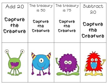 Capture the Creature: Addition and Subtraction within 100