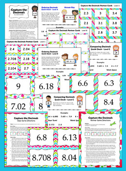 Comparing Decimals Game and Review | Comparing and Ordering Decimals
