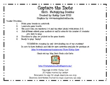 Capture the Facts - Multiplying Doubles