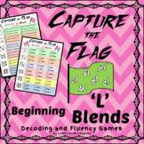 Capture the Flag - Beginning 'L' Blends  Decoding and Fluency Games