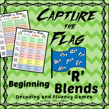 Capture the Flag - Beginning 'R' Blends Decoding and Fluency Games
