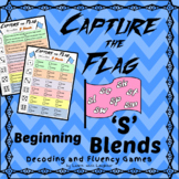 Capture the Flag - Beginning 'S' Blends Decoding and Fluency Games