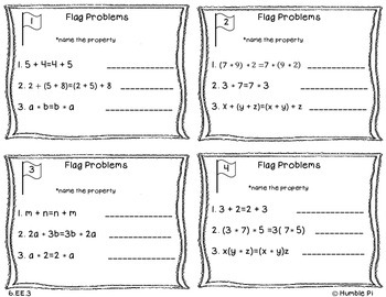 Capture the Flag Game: Number Properties- 6.EE.3