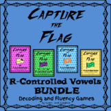 Capture the Flag - R-CONTROLLED VOWELS Decoding and Fluency Games  BUNDLE