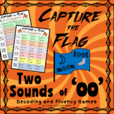 Capture the Flag - Two Sounds of 'oo'  Decoding and Fluency Games