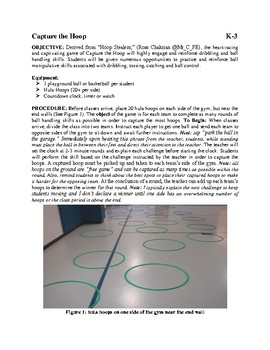 Capture the Hoop Dribbling and Ball Handling Game for Physical Education