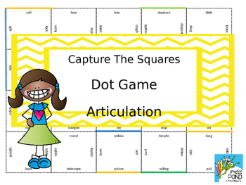 Capture the Square / Dot Game: No Prep Articulation Therapy