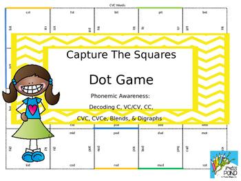 Capture the Square/Dot Game: No Prep Phonemic Awareness Pr