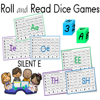Roll and Read Short Vowels and Long Vowels Dice Games
