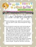 Hi Low Ordering Integers Math Game