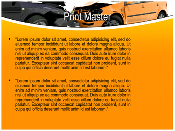Car Accident PPT Template