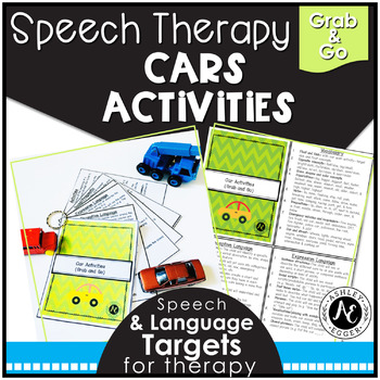 Speech Therapy Car Activities- Grab and Go